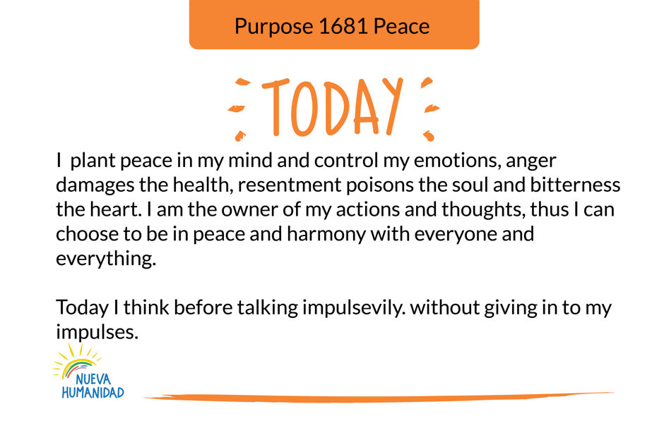 Purpose 1681 Peace