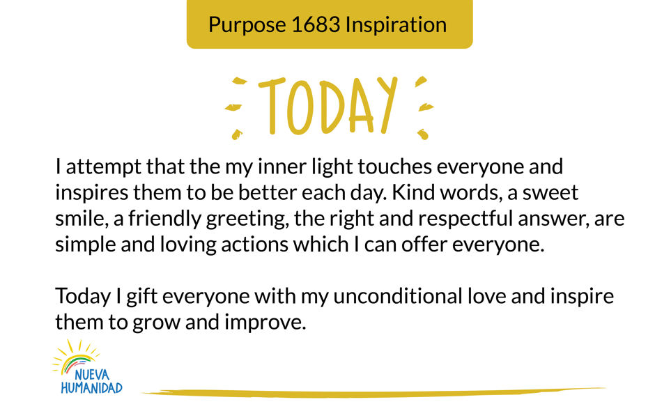 Purpose 1683 Inspiration