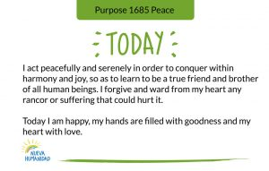 Purpose 1685 Peace