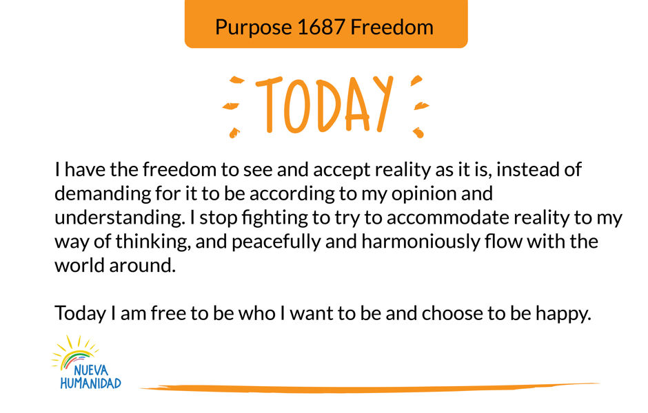 Purpose 1687 Freedom
