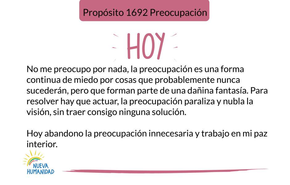 Propósito 1692 Preocupación
