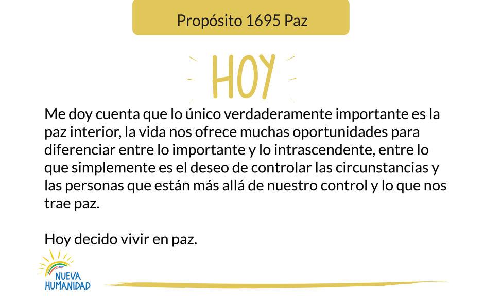 Propósito 1695 Paz
