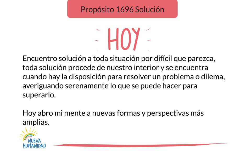 Propósito 1696 Solución