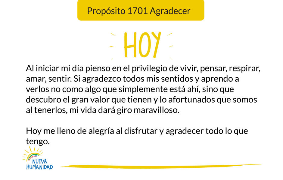 Propósito 1701 Agradecer