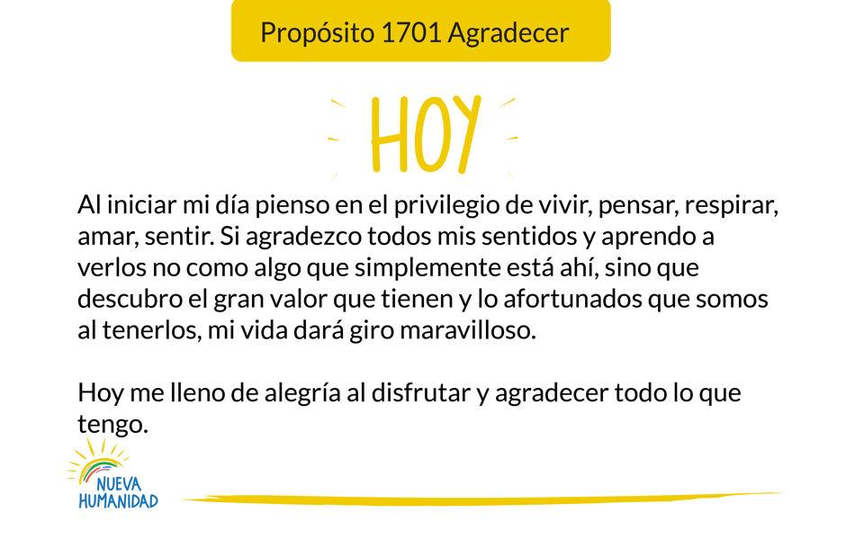 Propósito 1701 Agradecer