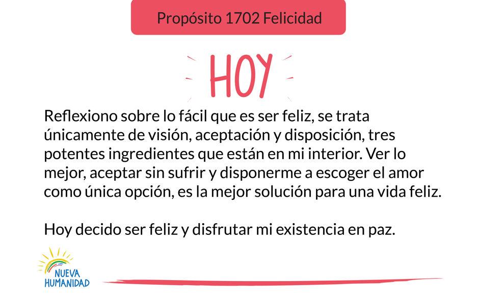 Propósito 1702 Felicidad