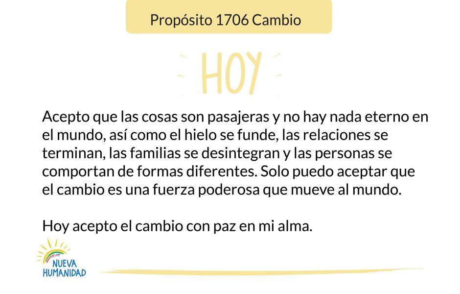 Propósito 1706 Cambio