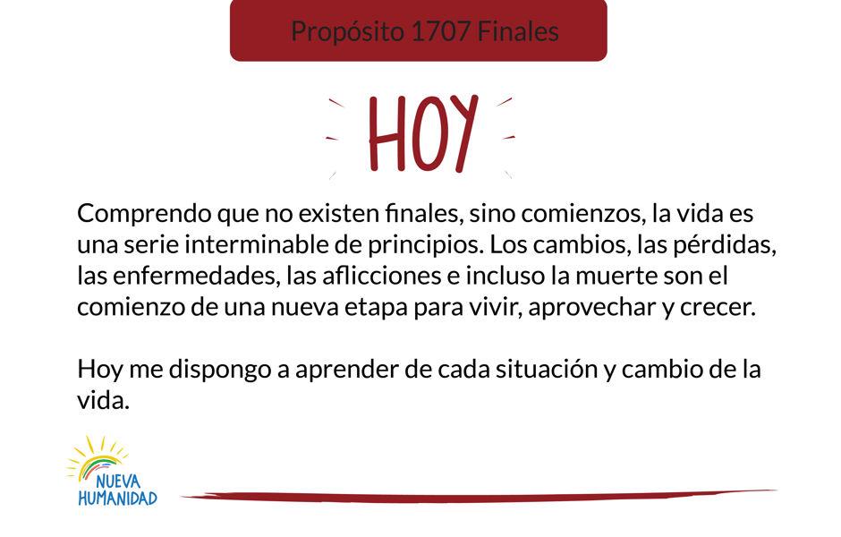 Propósito 1707 Finales
