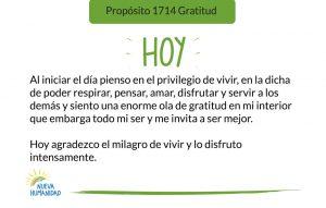 Propósito 1714 Gratitud