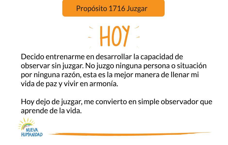 Propósito 1716 Juzgar