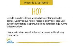 Propósito 1718 Silencio
