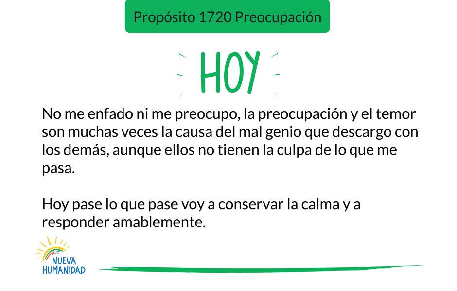Propósito 1720 Preocupación