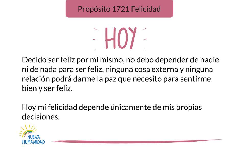 Propósito 1721 Felicidad