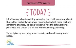 Purpose 1692 Worry