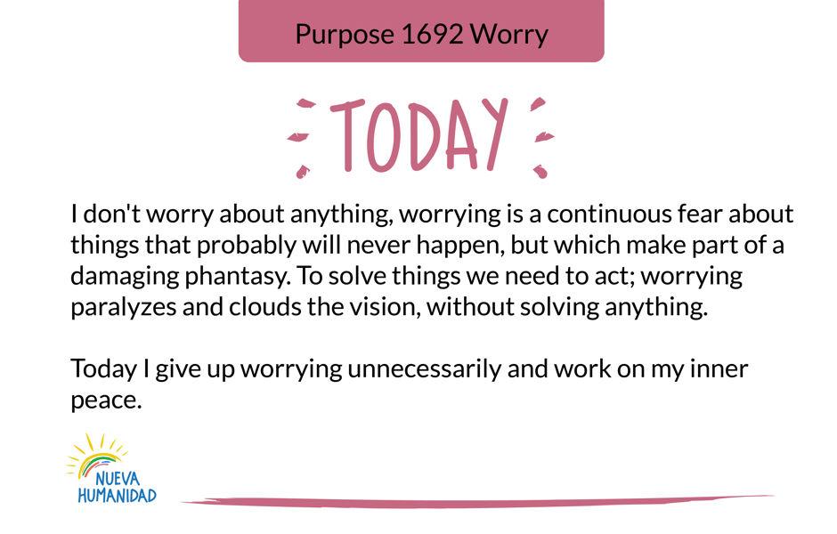 Purpose 1692 Worry