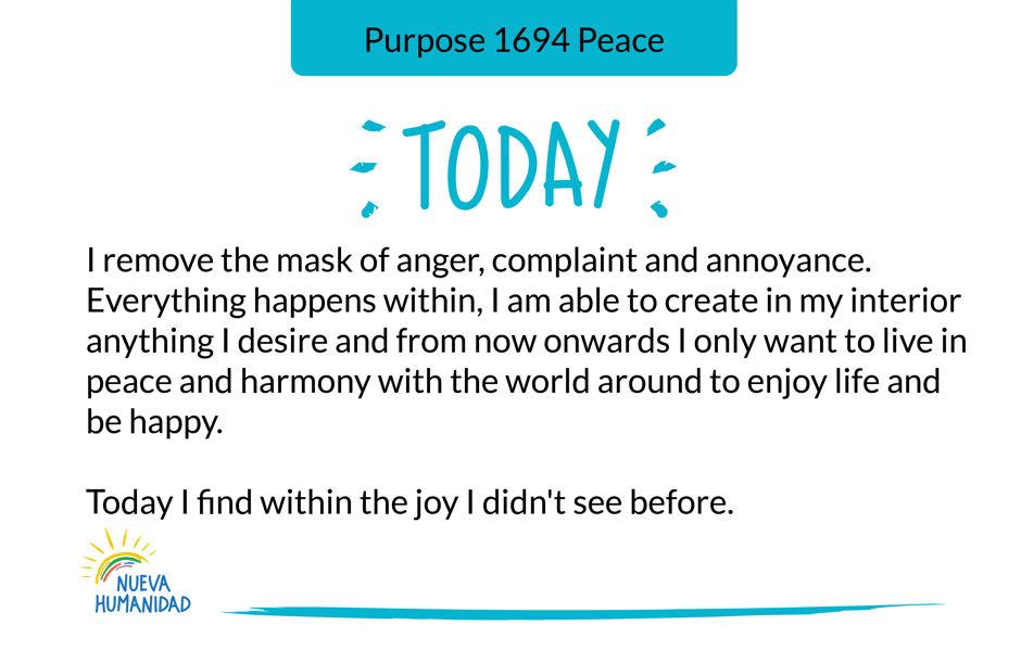 Purpose 1694 Peace
