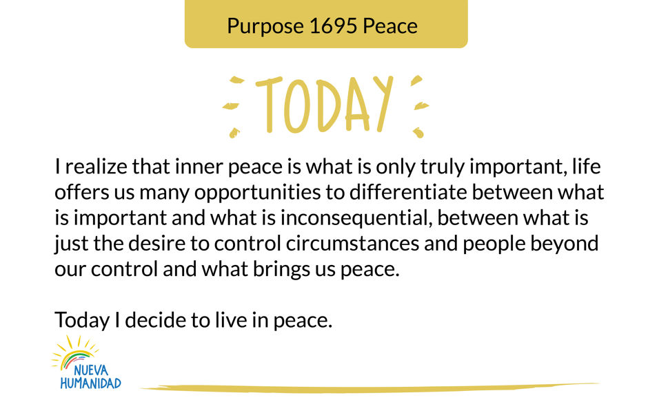 Purpose 1695 Peace