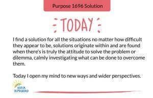 Purpose 1696 Solution