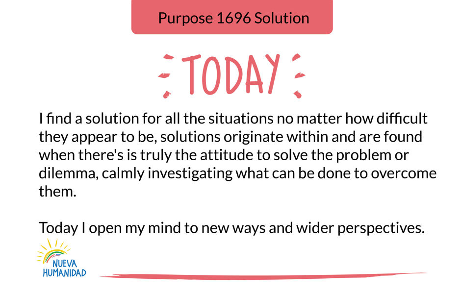 Purpose 1696 Solution