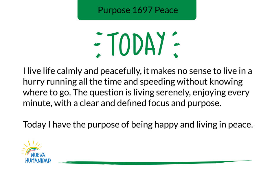Purpose 1697 Peace