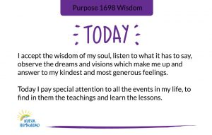 Purpose 1698 Wisdom