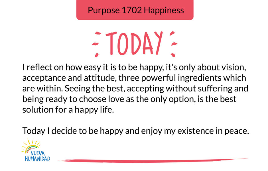 Purpose 1702 Happiness