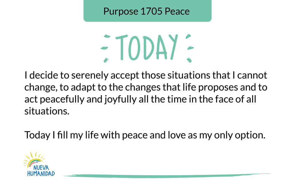 Purpose 1705 Peace