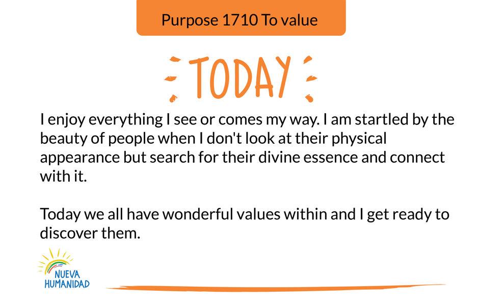 Purpose 1710 To value