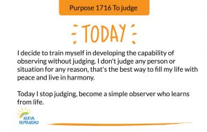 Purpose 1716 To judge