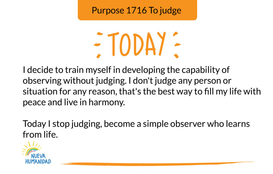 Purpose 1716 To judge