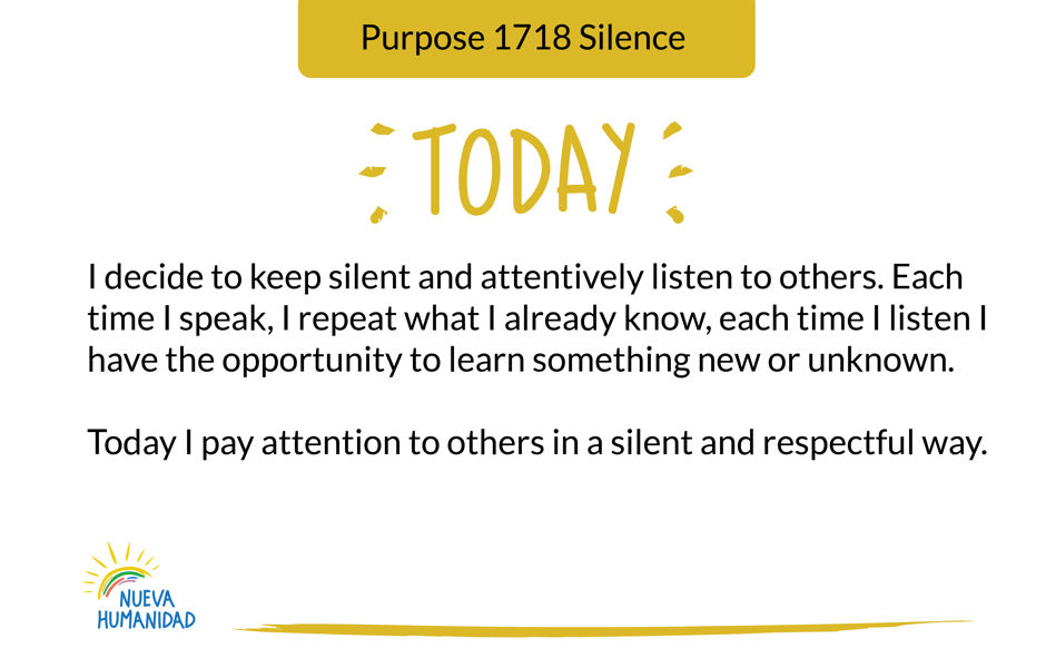 Purpose 1718 Silence
