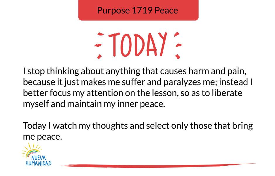 Purpose 1719 Peace