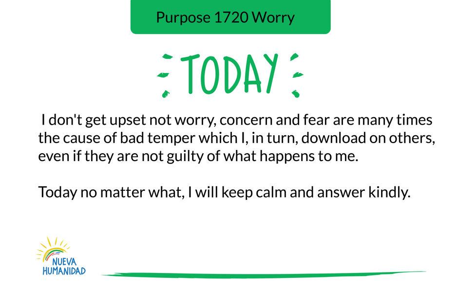 Purpose 1720 Worry