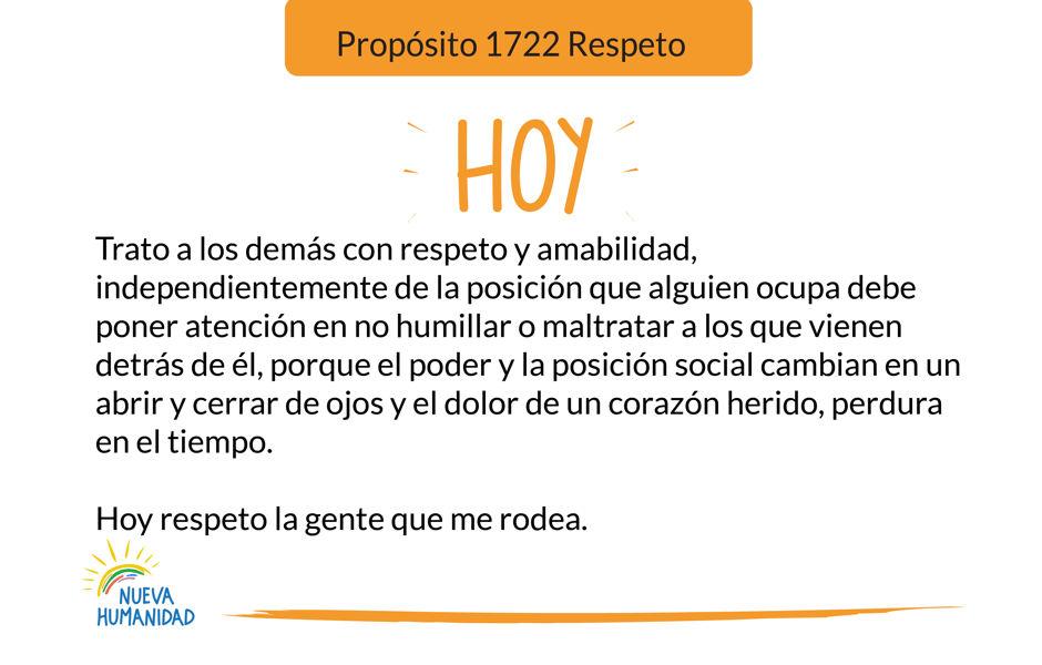 Propósito 1722 Respeto