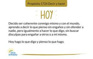 Propósito 1724 Decir y hacer