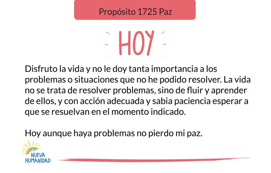 Propósito 1725 Paz