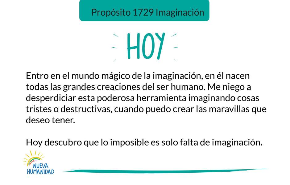 Propósito 1729 Imaginación