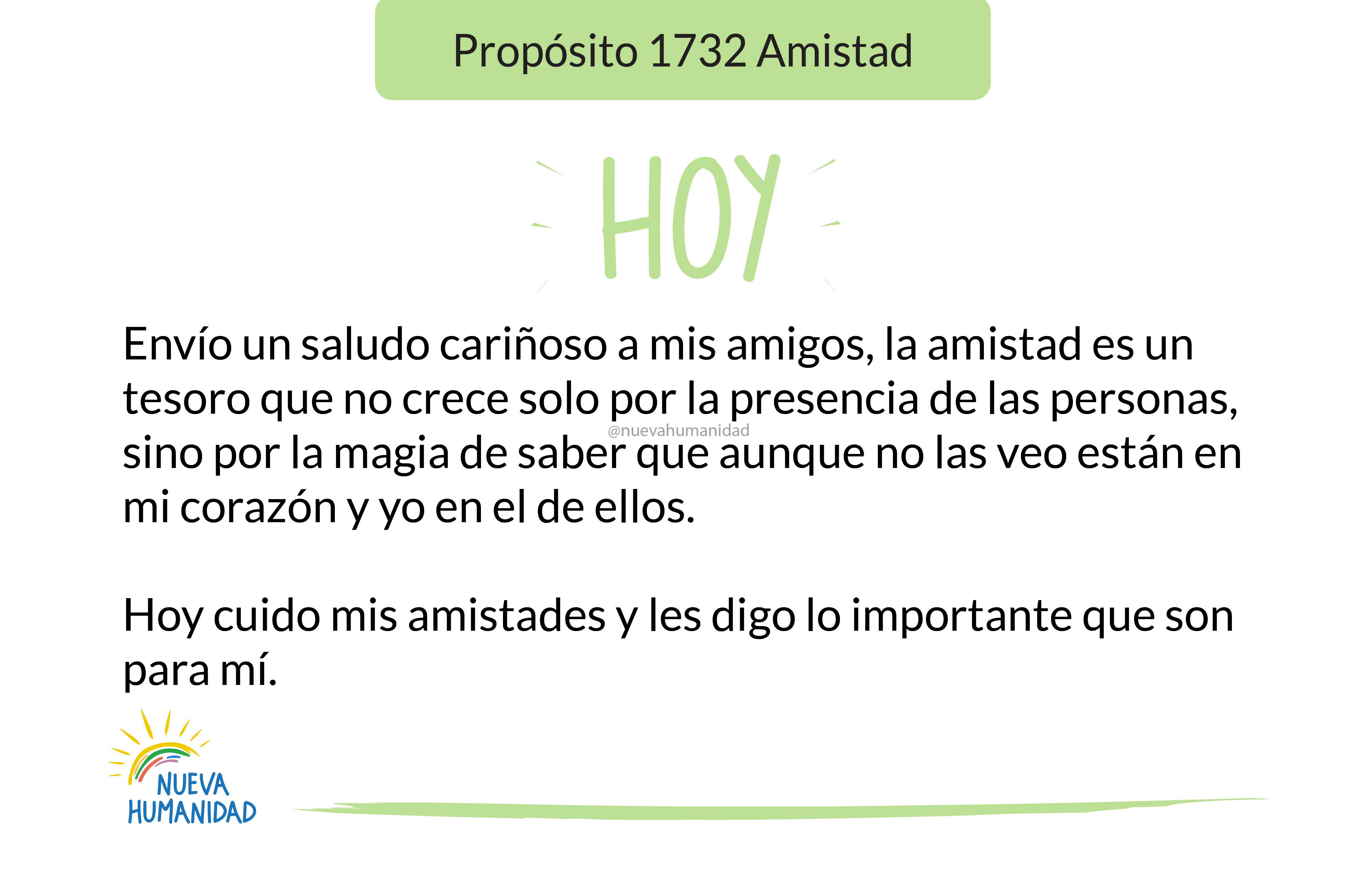Propósito 1732 Amistad