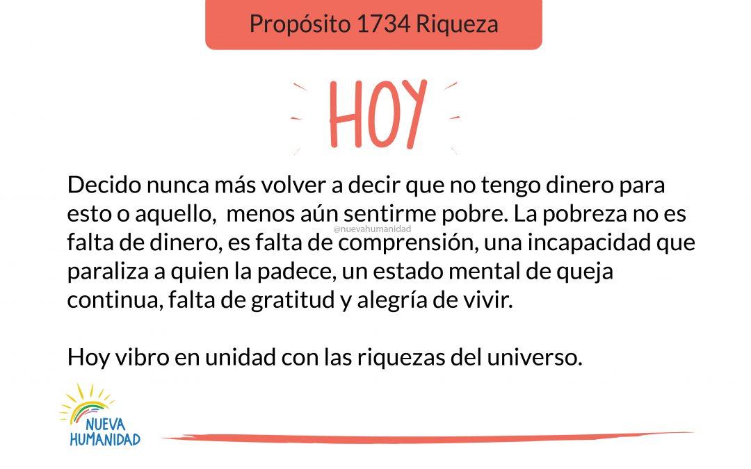 Propósito 1734 Riqueza