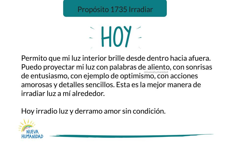 Propósito 1735 Irradiar
