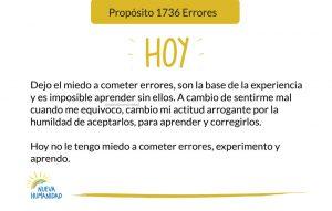 Propósito 1736 Errores