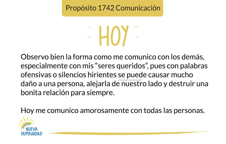 Propósito 1742 Comunicación
