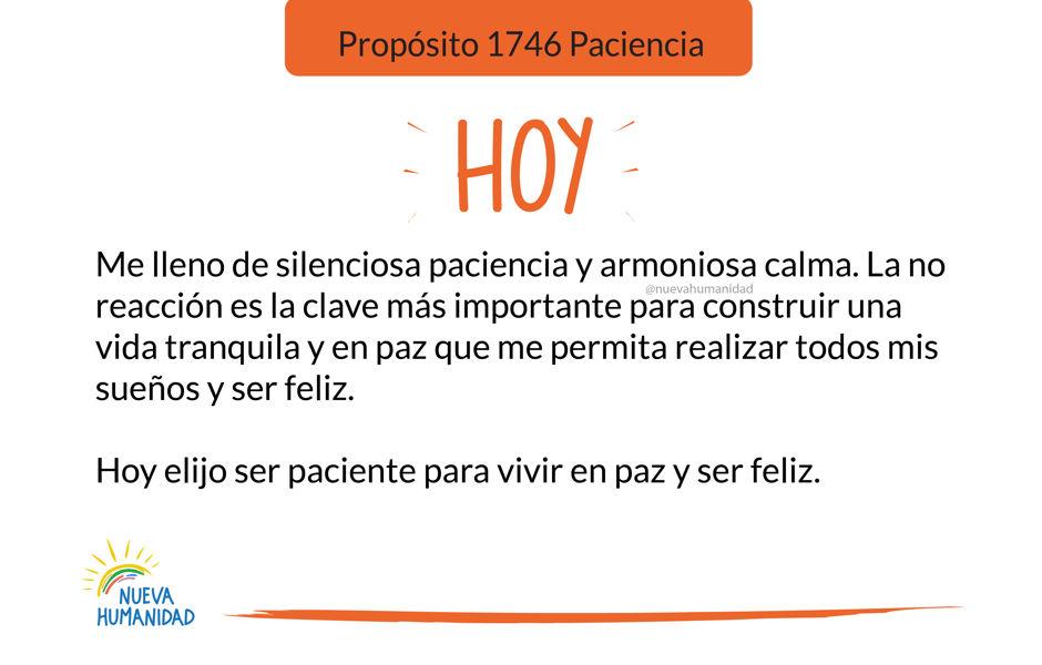 Propósito 1746 Paciencia