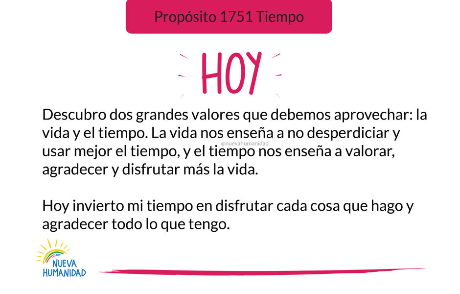 Propósito 1751 Tiempo