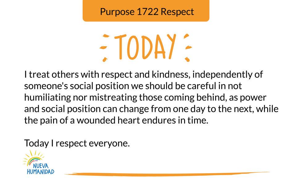Purpose 1722 Respect