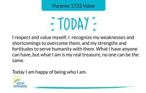 Purpose 1723 Value
