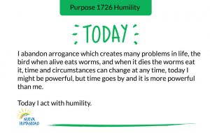 Purpose 1726 Humility
