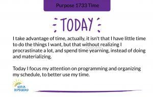 Purpose 1733 Time