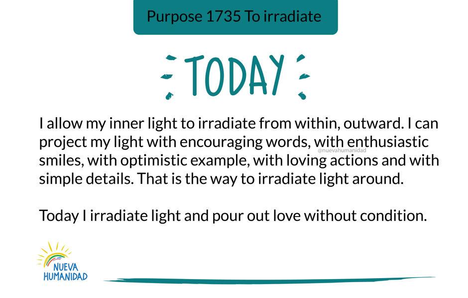 Purpose 1735 To irradiate