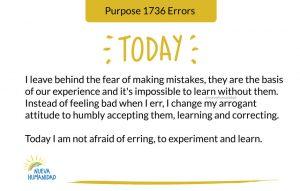 Purpose 1736 Errors